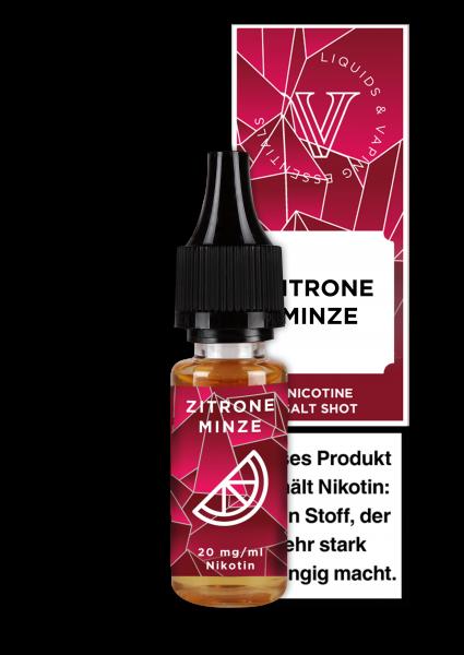V! NicSalt Liquid - Zitrone-Minze
