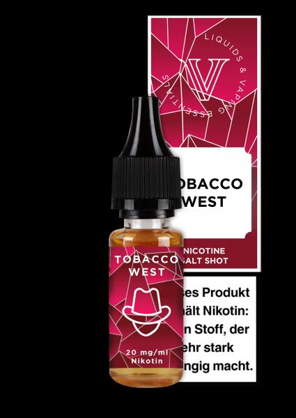 V! NicSalt Liquid - Tobacco West