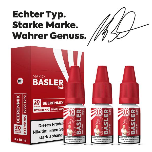 Mario Basler - Rot - Beeren Mix - 10ml (Hybrid-Nikotin Liquid)