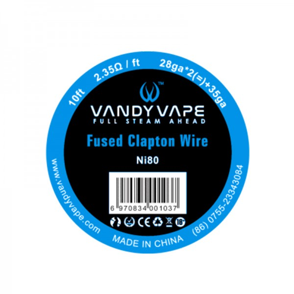 VandyVape Fused Clapton Draht Ni80
